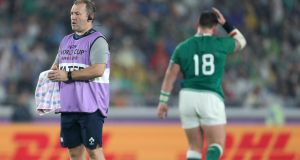 "Ireland kicking coach Richie Murphy: ""A decision was made that Besty was able to go the 80. He got a bit of a shock when we told him."" Photograph: Dan Sheridan/Inpho"