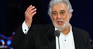 Spanish tenor Placido Domingo performs during a concert in  Hungary. Photograph: Getty Images