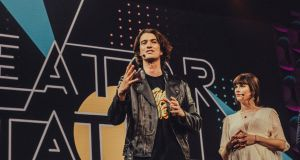 "Adam Neumann, who has been ousted overnight as chief executive of WeWork, the company he founded, alongside his sister, Adi, onstage at the ""2018 Creator Awards at Madison Square Garden in New York. Photograph: Cole Wilson"