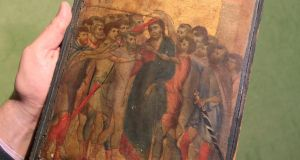 Rare find: the 13th-century painting attributed to the Italian master Cimabue. Photograph: Michel Euler/AP