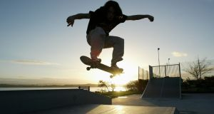A skater at the board park in Co Galway. File photograph: Joe O'Shaughnessy