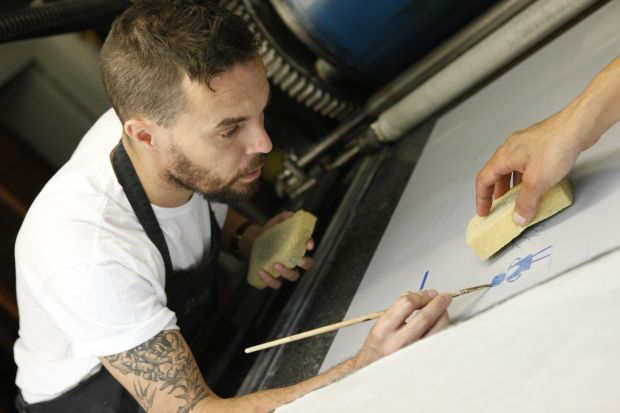 The Fate of Fausto: Oliver Jeffers works on his new book