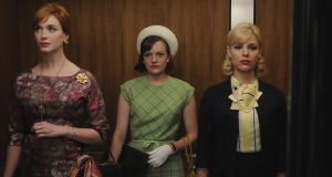 Joan (Christina Hendricks), Peggy (Elisabeth Moss) and Faye (Cara Buono) contemplate life without Mad Men on Netflix. Photograph: AMC