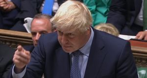 British prime minister Boris Johnson said in the House of Commons on Wednesday he had discussed  alternative arrangements for the post-Brexit border with Taoiseach Leo Varadkar in New York on Monday. Photograph: PA Wire