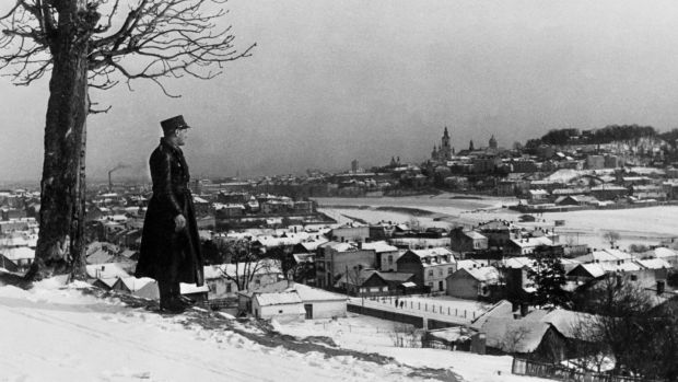 A view of Przemysl from a hilltop