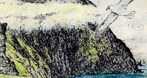 Clare Island cliffs. Illustration: Michael Viney