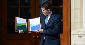 Minister for Finance  Paschal Donohoe before delivering Budget 2019. The upcoming budget should involve a multi-decade plan to provide proper public infrastructure. Photograph: Dara Mac Dónaill