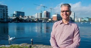 Docklands resident Michael Ingle believes the cost of rents in the area, while not desirable, is to an extent understandable. Photograph: Dave Meehan