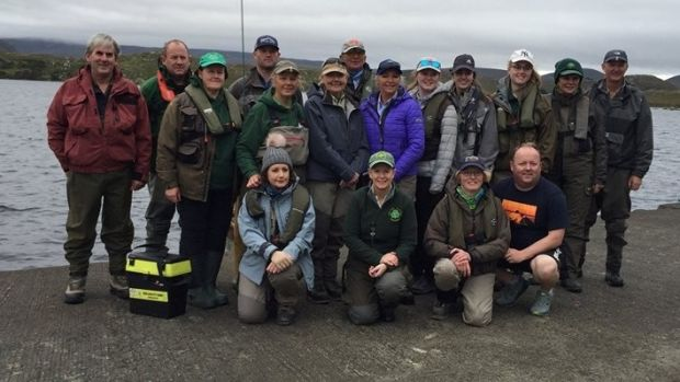 Irish Ladies Flyfishing Association with Loughanure Anglers' Club at the recent trial on Loughanure Lake, Co Donegal.