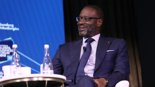 Credit Suisse chief executive, Tidjane Thiam. Photograph: Bloomberg