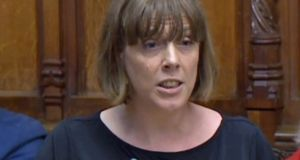 Labour MP Jess Phillips speaks in the House of Commons in London, England. Photograph: House of Commons/PA Wire