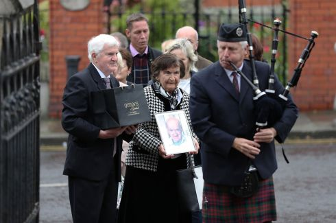 IRISH GOODBYE: Some of the hundreds of people who attended the Dublin funeral of Irish man Joseph Tuohy, who died in England without any known family. Photograph: Nick Bradshaw/The Irish Times