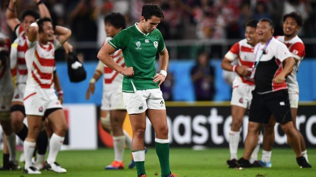 Joey Carbery has come under scrutiny for his decision to kick at the end of Ireland's defeat to Japan. Photograph: Anne-Christine Poujoulat/AFP/Getty