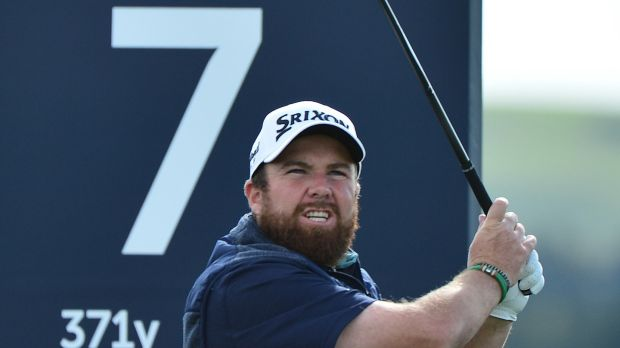 Shane Lowry of Ireland tees off on the seventh hole during the third round at St Andrews. Photograph: Mark Runnacles/Getty Images