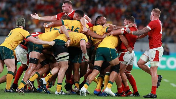 Australia and Wales played out a thriller in Tokyo. Photograph: David Rogers/Getty