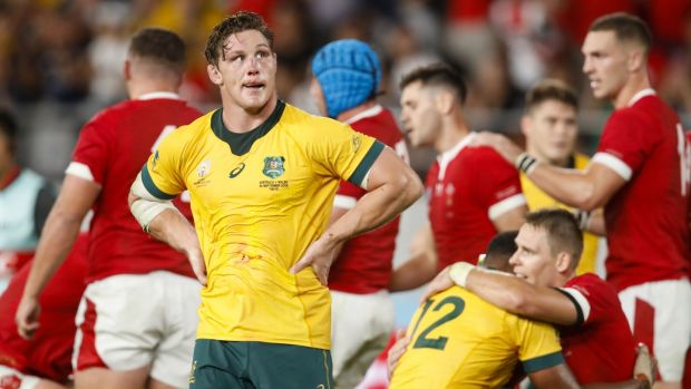 Michael Hooper saw his Australia side beaten narrowly by Wales in Tokyo. Photograph: Odd Andersen/AFP/Getty