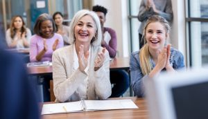 Bringing your parents to college open days can be helpful. Photograph: iStock
