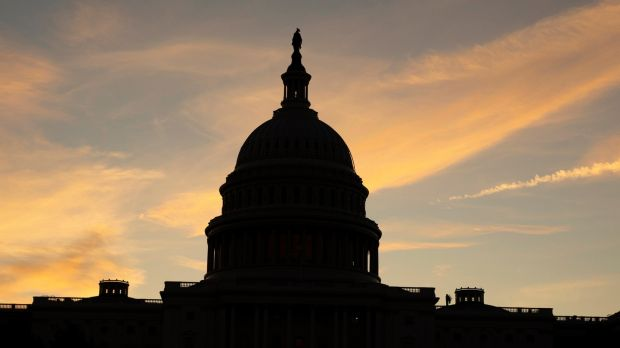 The US Capitol Building at dawn in Washington. Photograph: Michael Reynolds