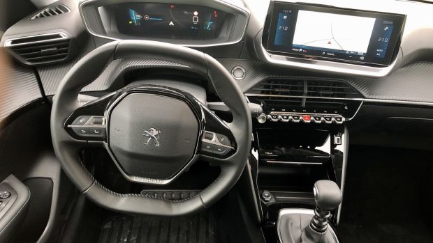 The revamp gets an update of Peugeot's still-controversial i-Cockpit and the now Peugeot trademark small steering wheel