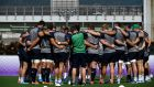 Ireland's players take part in a training session at the Steelers training ground in Kobe. Photograph: Getty Images