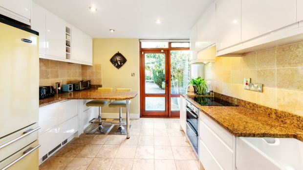 Kitchen at 15 Waterloo Lane, Ballsbridge, Dublin 4.