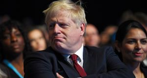Boris Johnson confirmed on Tuesday that Britain envisages two separate customs regimes on the island of Ireland and that this will require checks and controls somewhere. Photograph: Neil Hall/EPA.