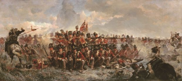 The 28th Regiment at Quatre Bras, 1875. Oil on Canvas. National Gallery of Victoria, Melbourne. Bridgeman Art Library.