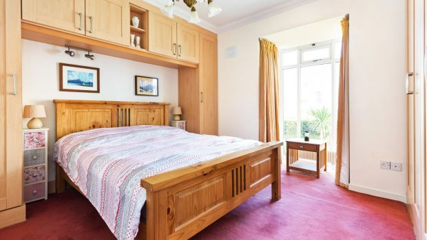 4 Kilmore, Bailey View: the main bedroom has built-in wardrobes and another large bay window