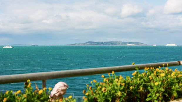 4 Kilmore, Bailey View: the views across Dublin Bay from the apartment's balcony