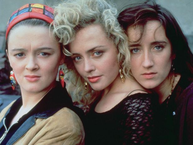 Bronagh Gallagher with Angeline Ball and Maria Doyle Kennedy in The Commitments