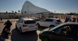 The border crossing between Spain and Gibraltar.