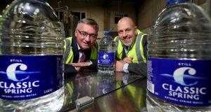 Liam Duffy, chief executive and owner of Classic Mineral Water Company and John Hood from Invest Northern Ireland
