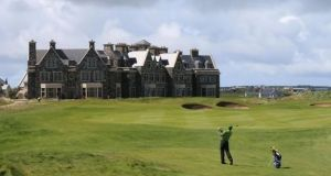 The woman was  having a meal with her daughter at   the Trump Doonbeg resort in Co Clare (above) when she collapsed and died, an inquest has heard. File photograph: PA