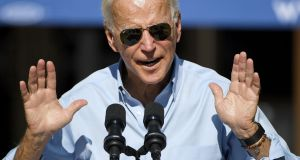 Democratic presidential candidate and former US vice-president Joe Biden: his rivals for the nomination do not want to evoke public sympathy for him. Photograph: Ethan Miller/Getty
