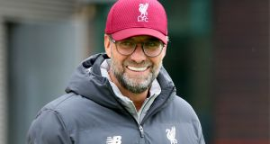 "Jurgen Klopp: ""For me that is the most important message, and what they hopefully think about when they go to bed tonight is that it is Anfield and it is us.""  Photograph:  Richard Sellers/PA Wire."