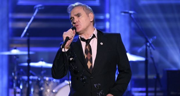 Morrissey: the singer removed an anti-fascist protester from his  concert. Photograph: Andrew Lipovsky/Getty