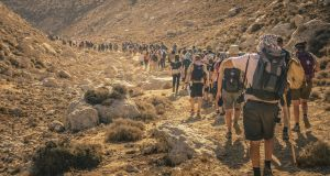 Walking to Jerusalem: a fascinating story which highlights a worthy cause. Photograph: Mark Kensett