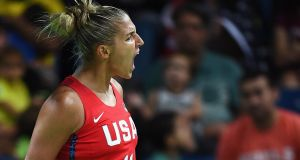 Elena Delle Donne: has been breaking scoring records as she bids to  lead the Washington Mystics to a WNBA title.  Photograph: David Ramos/Getty Images