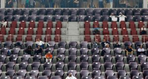 Rows of empty seats and sparse attendances have become  a familiar sight at the   World Athletics Championships in Doha, Qatar. Photograph: Diego Azlubel/EPA