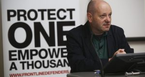 Front Line Defenders executive director Andrew Anderson said that five activists were prevented from travelling to Dublin.