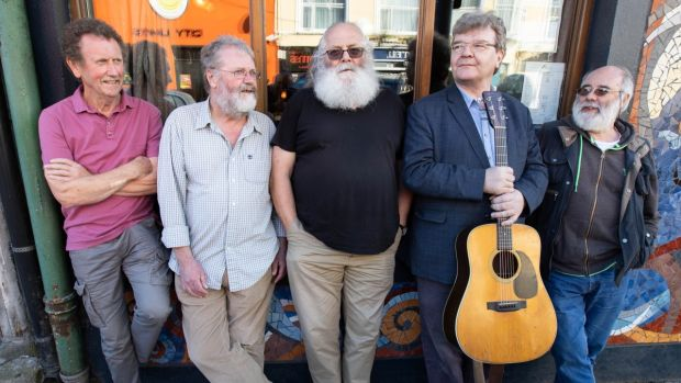 Brexit  Boris Johnson  conservative party Committee members of the first Cork Folk Festival in 1979: Paul Millard, Jim Walsh, Malachy Daly, Noel Shine, and Mick Daly at The Corner House launching the 2019 Festival programme. Photograph: Darragh Kane