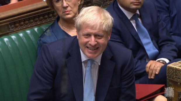 British prime minister Boris Johnson during a session at the House of Commons on Thursday.