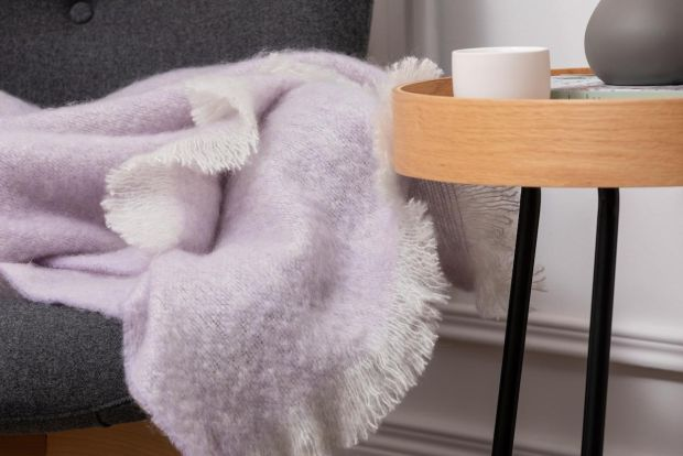 Foxford mohair throw €124 from Arnotts