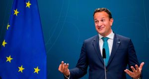 Taoiseach Leo Varadkar following a meeting with Swedish prime minister in Stockholm. Photograph: Jonathan Nackstrand/AFP