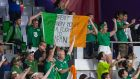 Ireland fans celebrate winning in Kobe. Photograph: Jayne Russell/Inpho