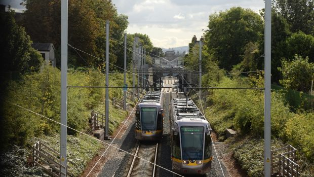 New Luas stops at Cabra and Broombridge have enabled an influx of professionals. Photograph: Dara MacDónaill