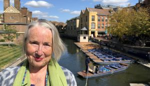 Finola O'Sullivan on Magdalene Bridge, Cambridge