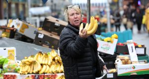 A stallholder at the  market in Moore Street  in Dublin, which may cease trading after 200 years. Photograph: Laura Hutton/The Irish Times