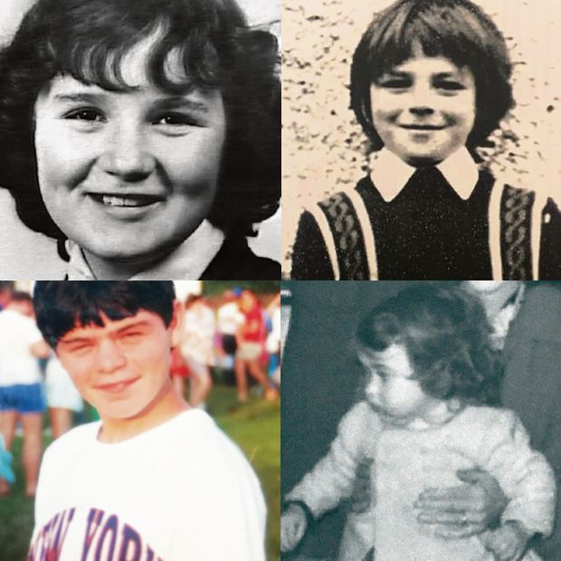 Children of the Troubles (clockwise from top left): Julie Livingstone, Brian Stewart, Clare Hughes and Charles Love