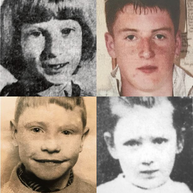 Children of the Troubles (clockwise from top left): Lesley Gordon, Michael McIlveen, Paula Strong and Patrick Rooney
